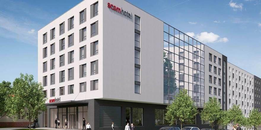 So soll's aussehen: Eine Visualisierung des geplanten Acomhotels in Stuttgart