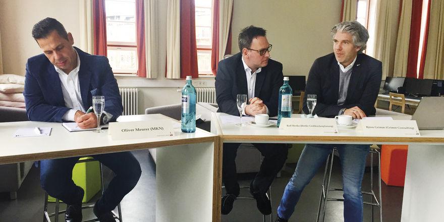 Die FCSI-Speeddating-Jury: (von links) Rolf Henke, Oliver Meurer und Björn Grimm.