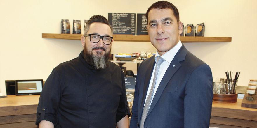 Lieben frische Küche: Stefan Köglmeier (links) und Brainlab-Chef Stefan Vilsmeier