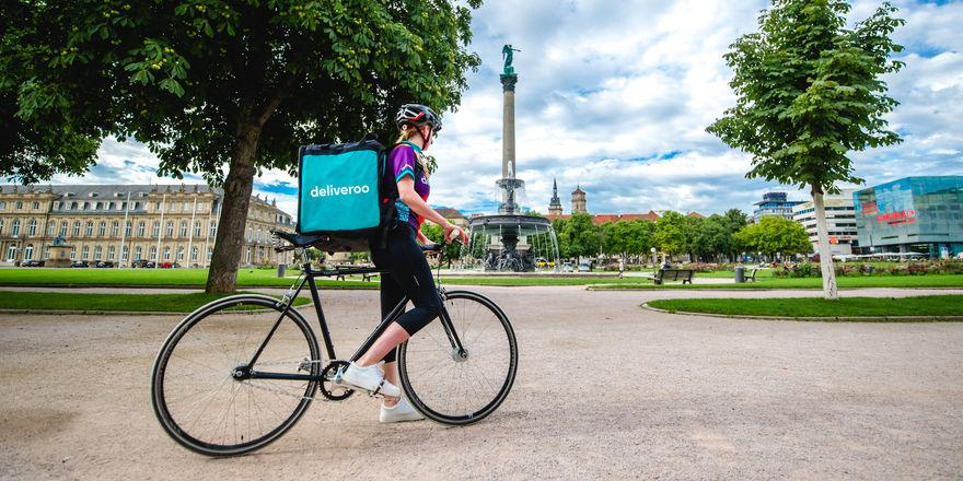 Deliveroo: 250 feste Stellen gibt's in London. Die Fahrer hingegen - hier in Stuttgart - sind freie Mitarbeiter