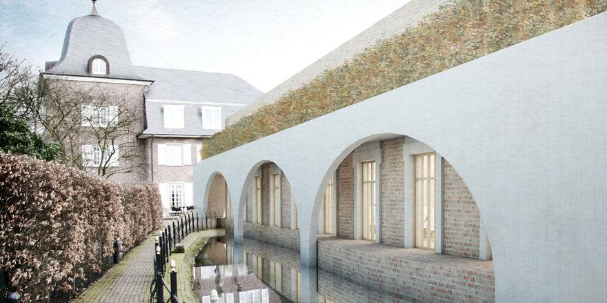 So soll es werden: Rendering des Erweiterungsbaus Klosterforum