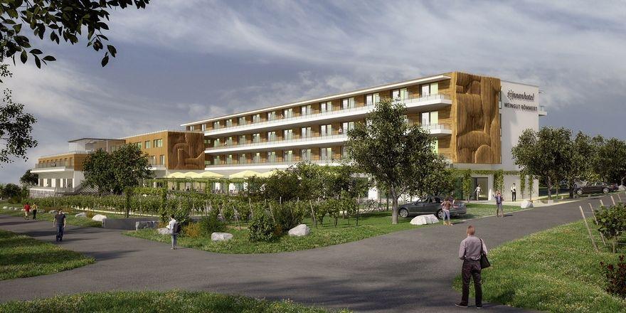 Ein stattliches Haus: So soll das neue Sonnenhotel in der fränkischen Weinstadt Volkach einmal aussehen.