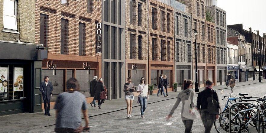 So soll es aussehen: Ein Rendering des künftigen Ruby Lucy Hotel London