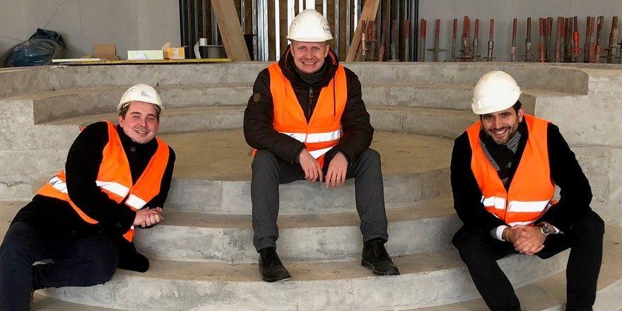 Führungstrio: (von links) Patrick Lüders, Hauke Christian Petersen und Christian Bärwinkel.