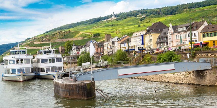 Gut frequentiert: Nach Rüdesheim strömen Touristen aus aller Welt
