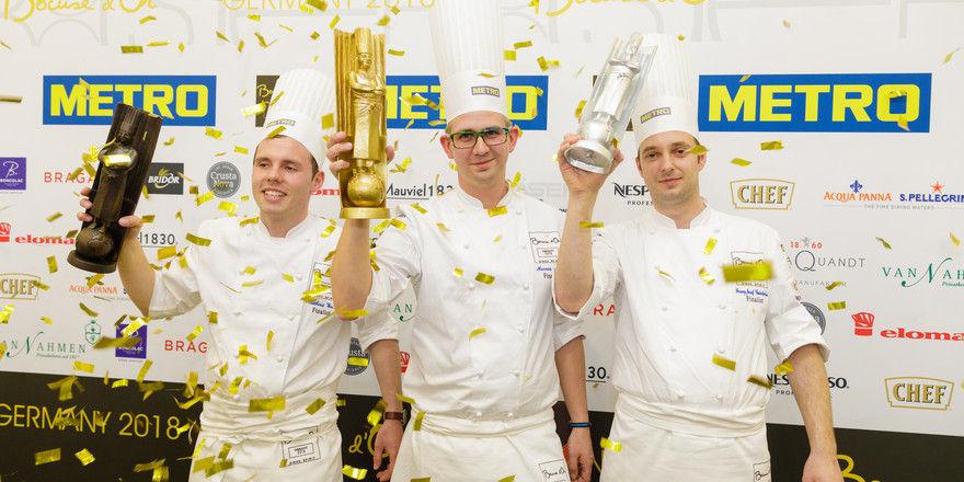 Sie sind die besten Deutschlands: Sieger Marvin Böhm (Mitte) mit Matthias Walter und Franz Josef Unterlechner (von links)