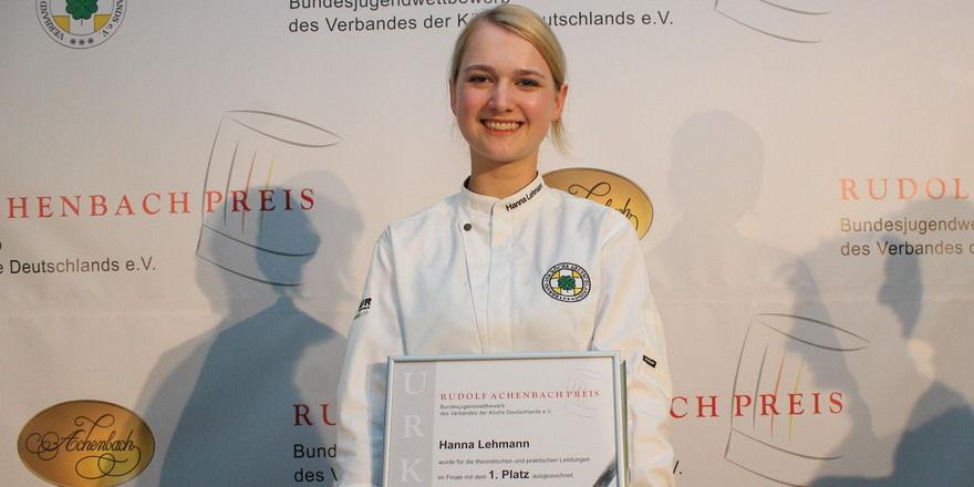 Strahlende Siegerin: Hanna Lehmann aus Chemnitz