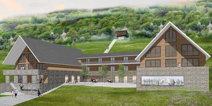So soll es einmal aussehen: Das Designhotel Nationalpark Lodge in der Eifel