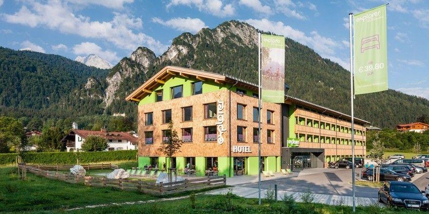 Sportlich: Explorer, hier das Hotel in Berchtesgaden