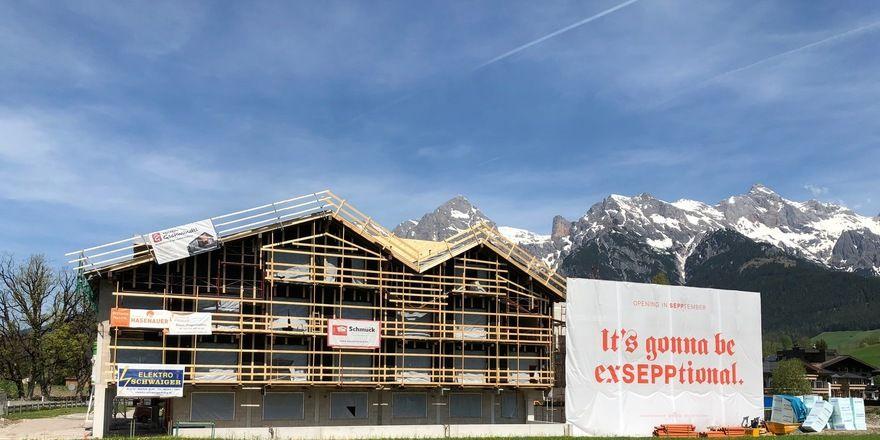 Mitten in der Bauphase: Das Boutique-Hotel Sepp in Maria Alm in Österreich