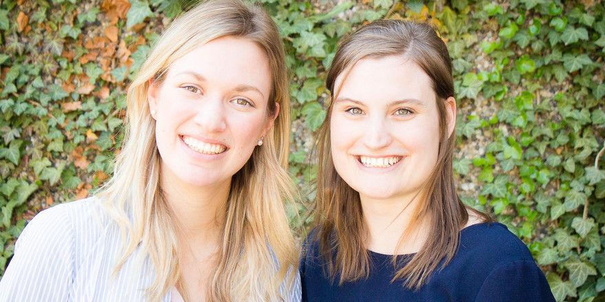 Die Initiatorinnen der Gastrokinder: Franziska Helmer (links) und Laura Becker.