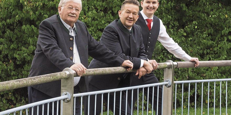 Drei Generationen: (von links) Hermann senior, Hermann junior und Dominik Reischl.