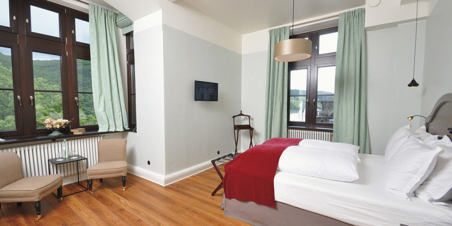 Zimmer mit Aussicht: Die modern eingerichteten Räume haben individuelle Grundrisse.