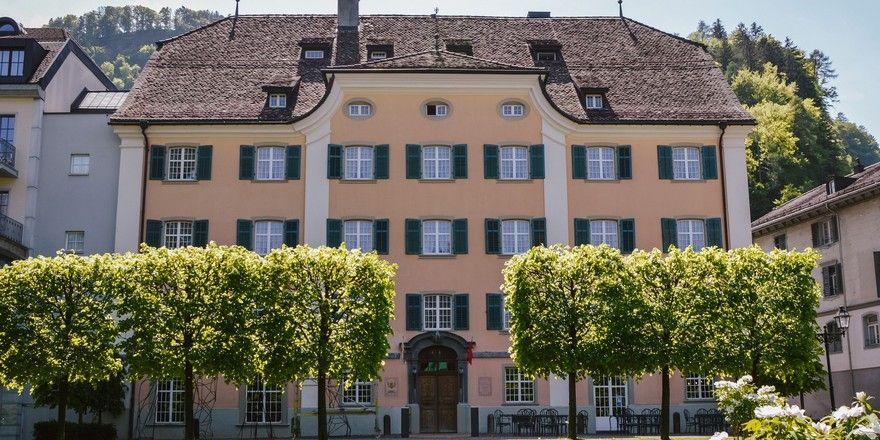 Denkmalgeschütztes Gebäude: Das Palais Bad Ragaz in der Schweiz