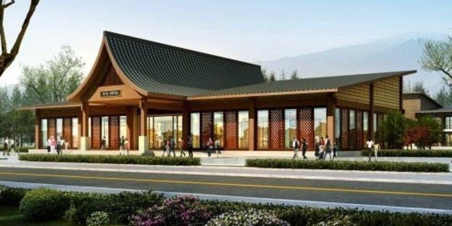 So soll's aussehen: Ein Rendering des geplanten H12 Hotels in Miangyang
