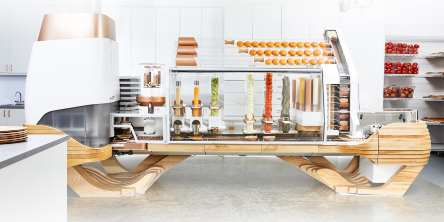 Stylische Technik: Die Burger-Maschine des Restaurants Creator in San Francisco