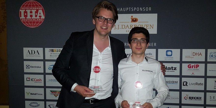 Haben überzeugt: (von links) Moritz von Petersdorff-Campen, Geschäftsfüher Suitepad und Giorgi Khubua, Geschäftsführer Solos Mirrors