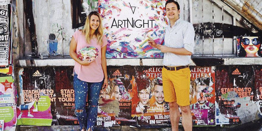 Haben Expansionspläne: Die beiden Gründer Aimie Carstensen-Henze und David Neisinger vom Berliner Start-up Artnight.