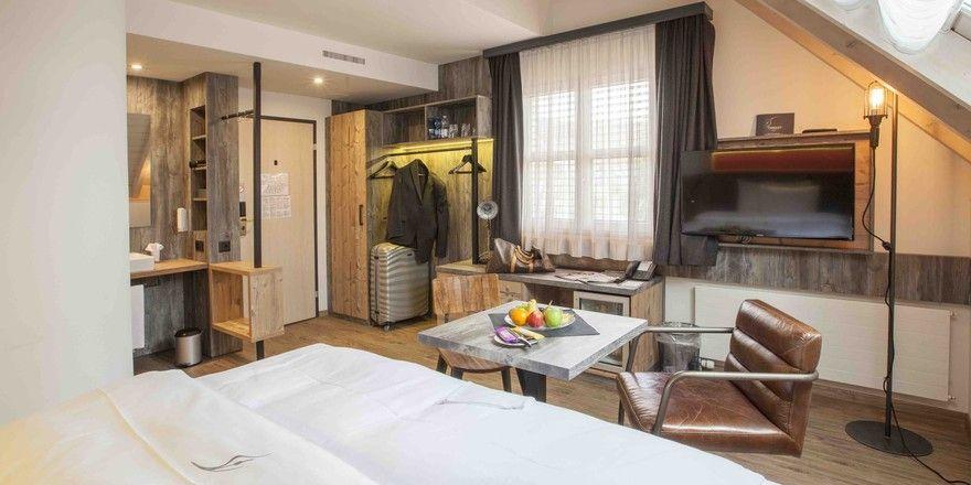 Gelungenes Beispiel: Ein neu eingerichtetes Zimmer im Thessoni in Zürich