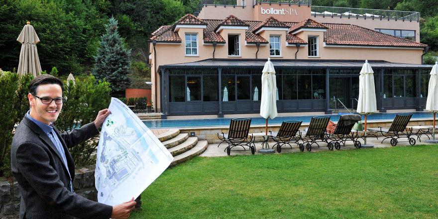 Liebt die Veränderung: Hotelchef Jan Bolland vor der – inzwischen realisierten – Erweiterung des Spa-Bereichs des Bollants Park Hotel in Bad Sobernheim