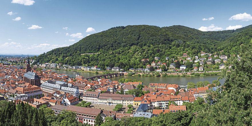 Heidelberg am Neckar: Die international berühmte Universitätsstadt zieht viele Touristen an.