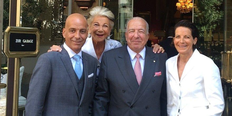 Glück: Ernst-Friedrich von Kretschmann mit Frau Sylvia, Tochter Caroline und Sohn Oskar