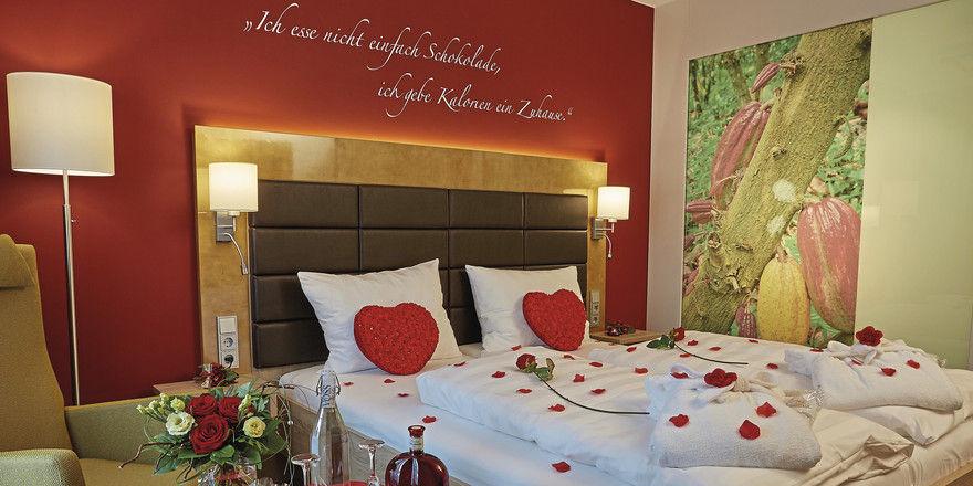 Eine Sünde wert: Das Thema Schokolade finden die Gäste auch in den 81 Zimmern des Schokoladenhotels wieder.