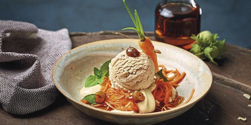 Süßes Gemüse: Was sich aus einer schlichten Kugel Eis machen lässt, zeigt dieses Rezept mit Mövenpick-Haselnusseis