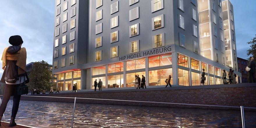 So soll es aussehen: Das HIP-Hotel in Hamburg-Harburg