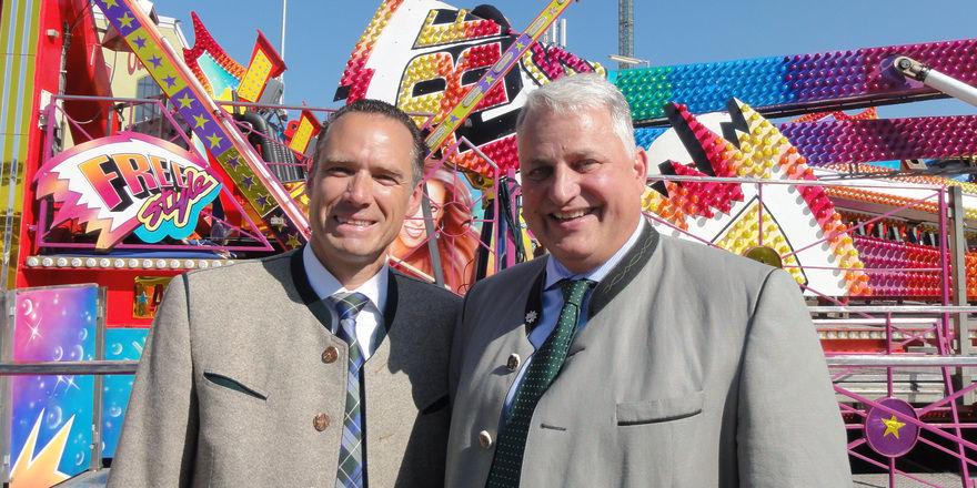 Erstmals als Wiesnwirte-Sprecher aktiv: (von links) Peter Inselkammer und Christian Schottenhamel