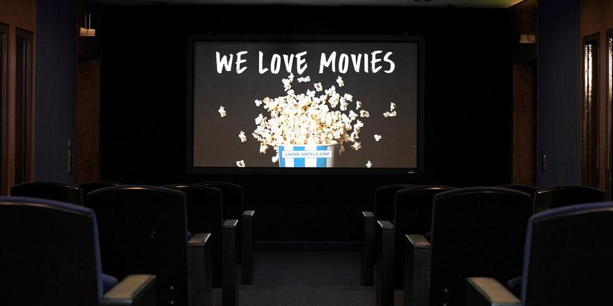 Hier gibt's klassische und neue Filme zu sehen: Der neue Kinosaal im Living Hotel Kanzler in Bonn