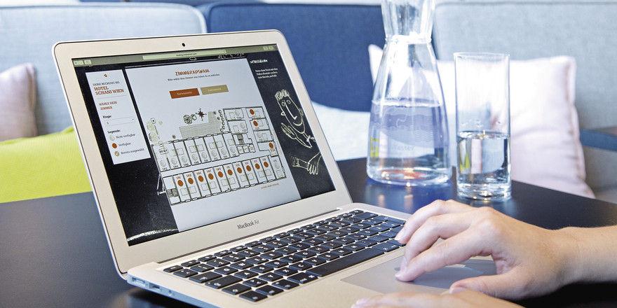 Zusätzlicher Service: Im Wiener Hotel Schani können Direktbucher den Etagenplan samt zur Verfügung stehender Räume einsehen