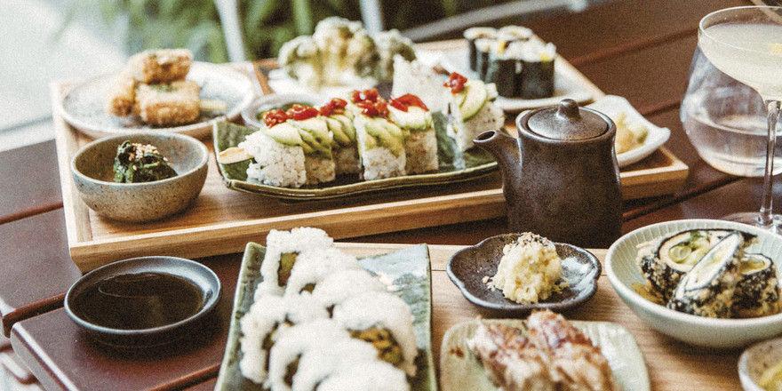 Es ist angerichtet: Speisen werden im Kansha bevorzugt im Set serviert – ein Fest für Auge und Gaumen