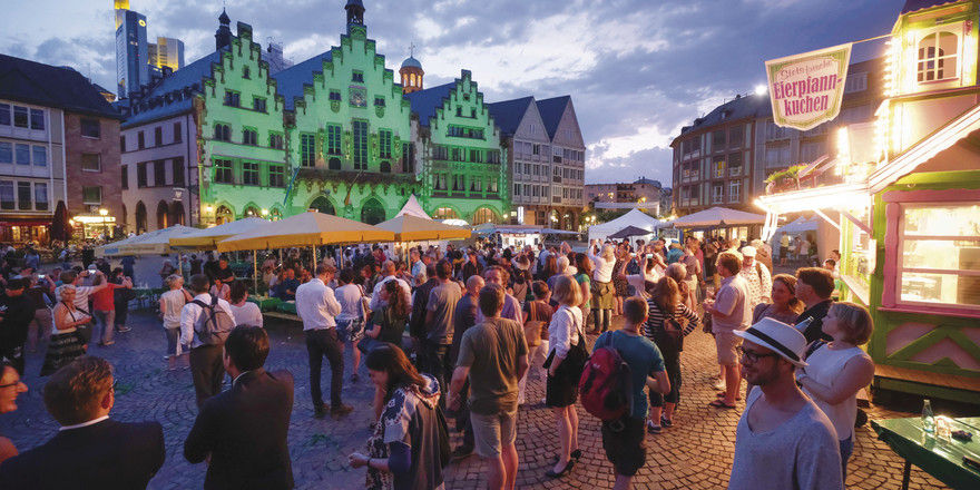 Alles wird grün: Im Juni steht Frankfurt einen Tag lang ganz im Zeichen seiner Spezialität.