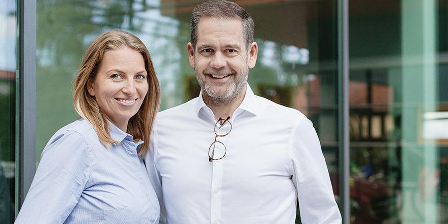 Sie sind die Gesichter von Halbersbacher: Anke und Arne Mundt