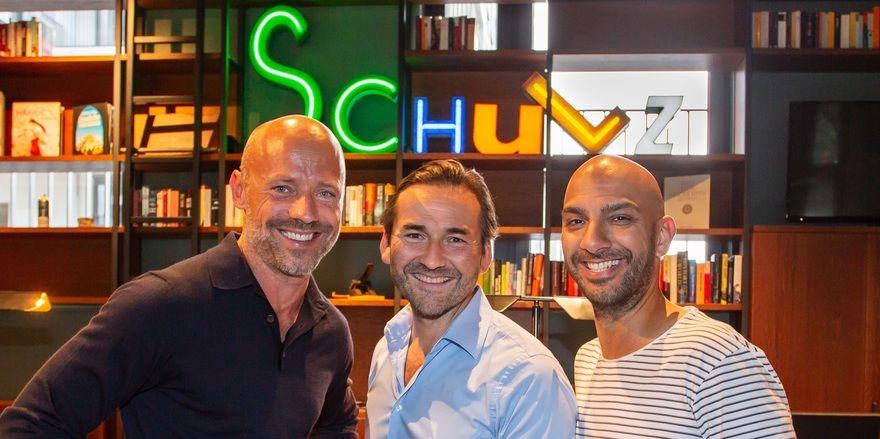 Drei Macher: Sascha Gechter, Oskar Kan und Nizar Rokhbani