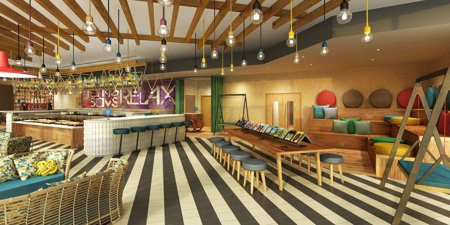 Soll junges Publikum anziehen: Das bunte und freche Design der Marke Ramada Encore by Wyndham