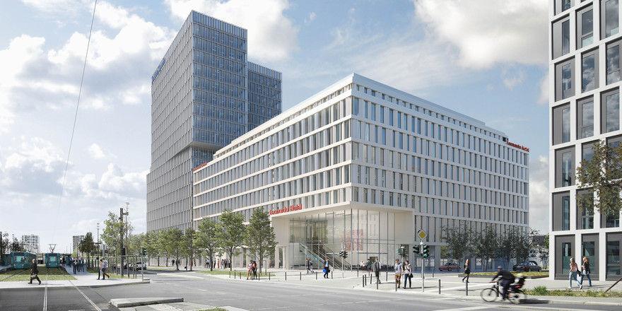 So soll's aussehen: Ein Rendering des geplanten Leonardo Hotels in Frankfurt
