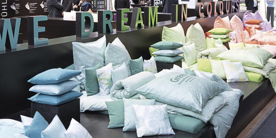 Stoffe, Farben, Formen: Außer den neuesten Textiltrends bietet die Heimtextil auch ein Forum zum Thema Schlafen.
