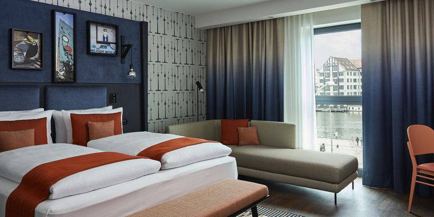 In Nachbarschaft zur East Side Gallery aufwachen: Im Superior-Room des Hotel Indigo ist dies möglich