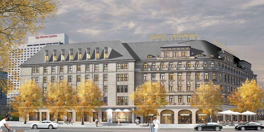 So soll's aussehen: Das Hotel Astoria Leipzig (Rendering)