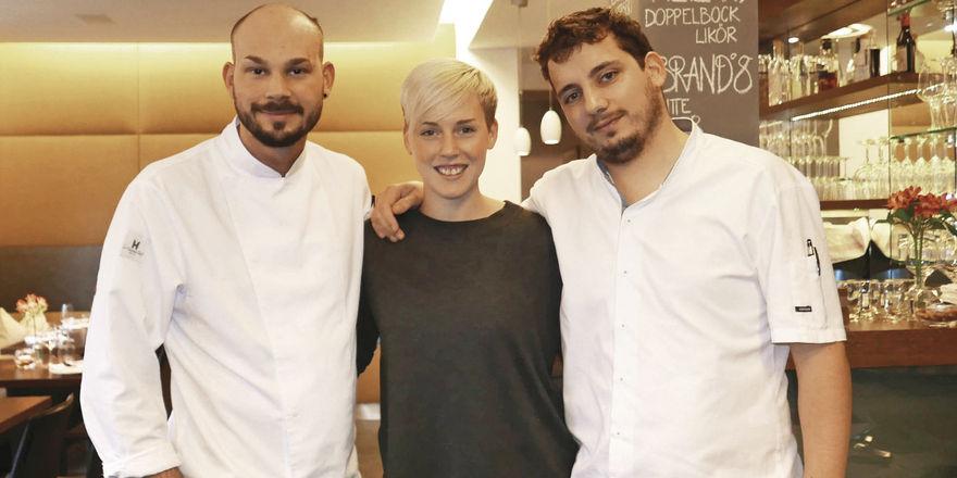 Starkes Trio: (von links) Robin Bender, Johanna Stier und Maurizio Oster