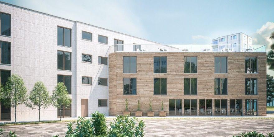 So soll's aussehen: Das Gebäude mit mindestens 64 Serviced Apartments wird in Böblingen entstehen (Rendering)
