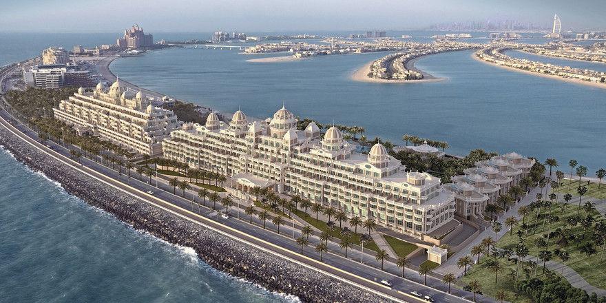 100.000 Quadratmeter groß: Das Emerald Palace Kempinski Dubai mit privatem Sandstrand