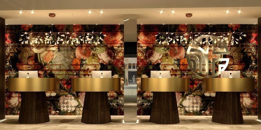 Nächste Neueröffnung: Das NH Collection Amsterdam Flower Market, hier die Rezeption