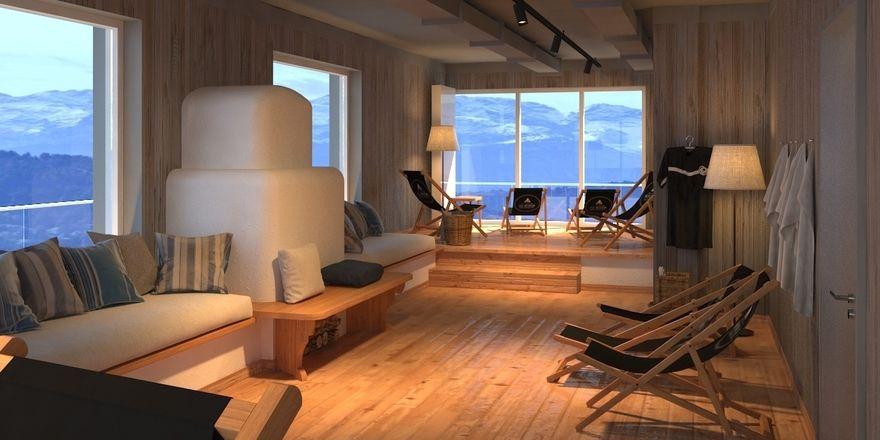 Hotelähnliche Services: Das Moun10 umfasst einen Sauna-Bereich mit Ruheraum
