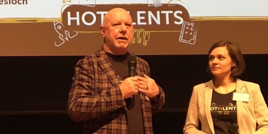 Die Hotalents-Initiatoren: Klaus Michael Schindlmeier und Lisa Aenis vom Best Western Plus Hotel Palatin