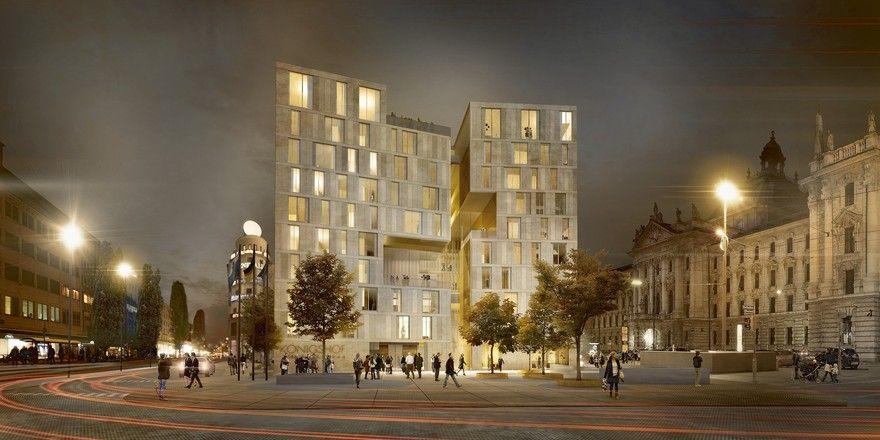 Entwurf: Der neue Königshof in München soll 2023 starten