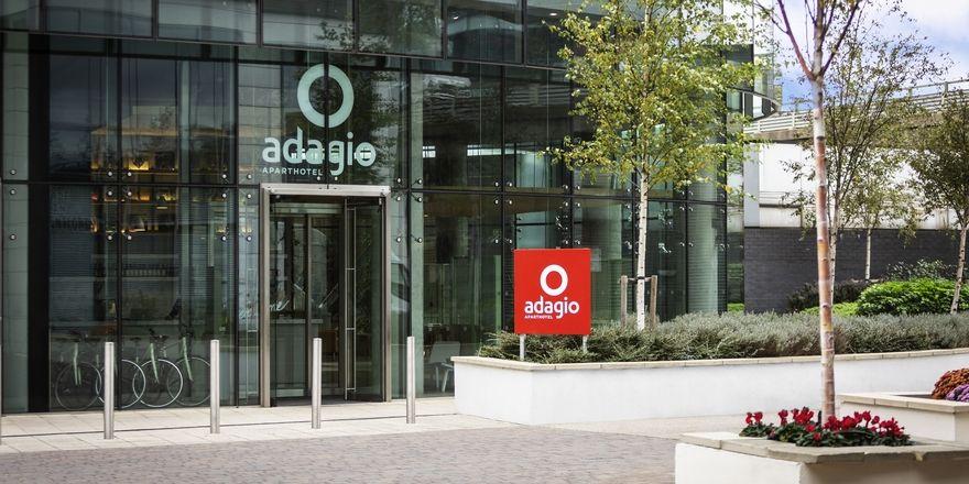 Konzept für Langzeitgäste: Der Eingang des neuen Adagio London Brentford
