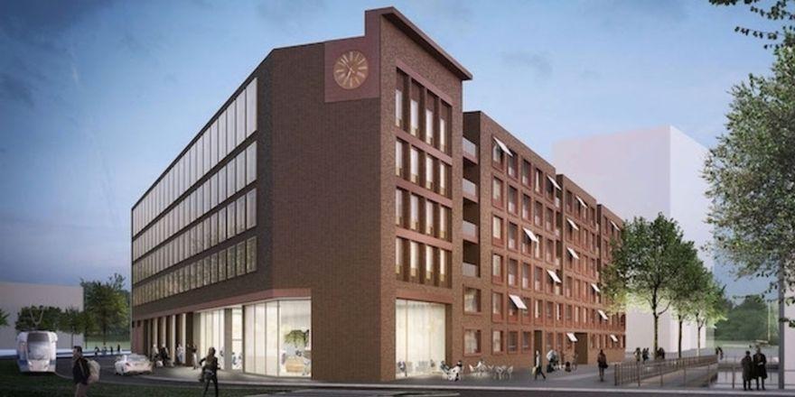 So soll's aussehen: Das geplante Hotel der Marke Super 8 im Mainzer Zollhafen